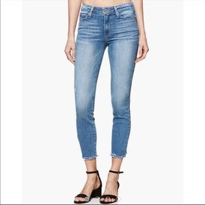 Paige Verdugo Crop Light Wash High Rise Jeans